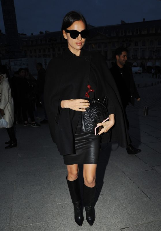 Irina Shayk Night Out Style - Paris 1/24/2016