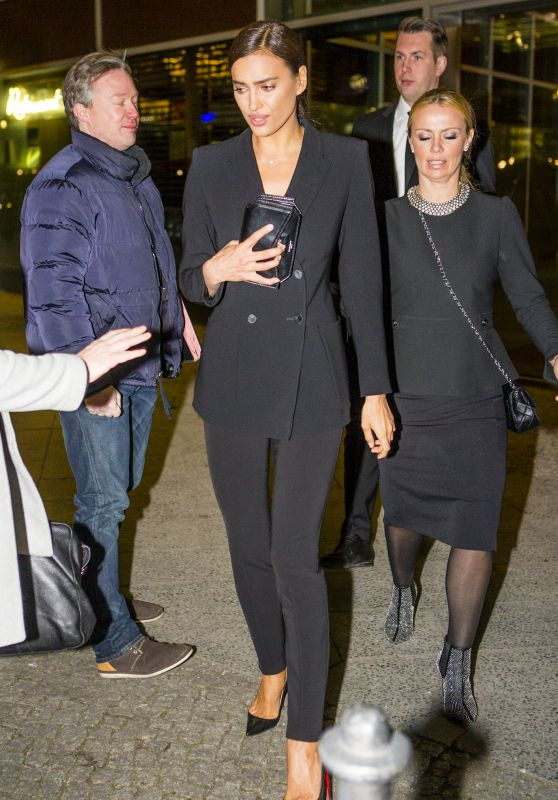 Irina Shayk Style - Leaving Marc Cain After Show Party 1/19/2016