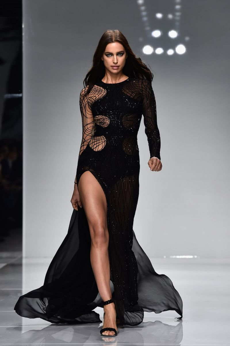 Irina Shayk Versace Spring Summer 2016 Show Paris Fashion Week