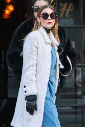 Jaime King - Leaving The Bowery Hotel in New York City 1/27/2016