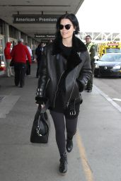 Jaimie Alexander Airport Style - at LAX in Los Angeles 1/11/2016