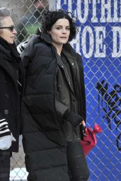 Jaimie Alexander - On the Set of Blindspot in Brooklyn 1/18/2016