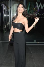 Jasmin Walia Night Out Style - W Hotel London, January 2016
