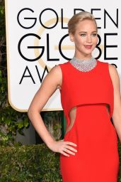 Jennifer Lawrence – 2016 Golden Globe Awards in Beverly Hills