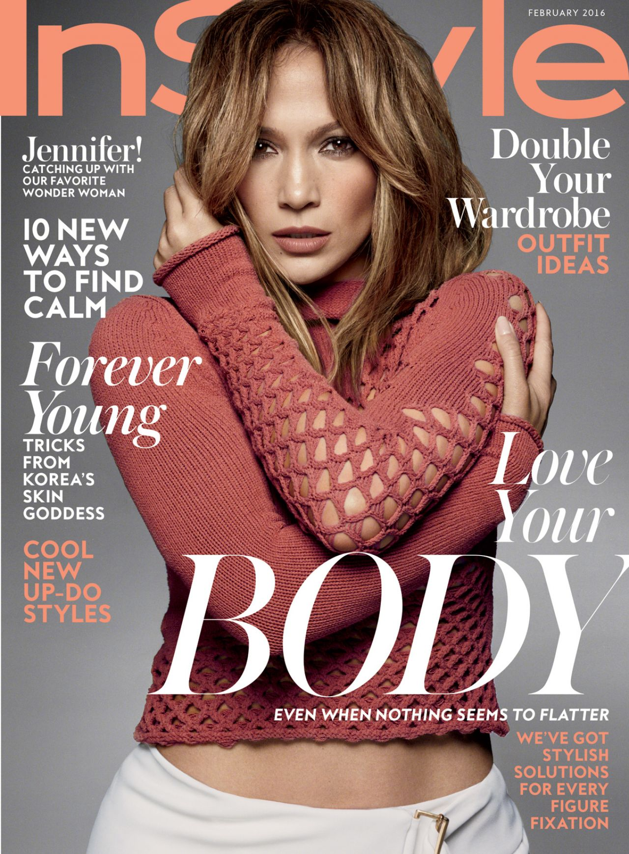 jennifer lopez instyle magazine february 2016 cover. Black Bedroom Furniture Sets. Home Design Ideas