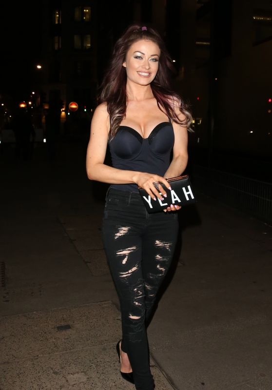 Jess Impiazzi Night Out Style - Steam & Rye Club in London 1/28/2016