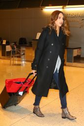 Jessica Alba at JFK Airport in NYC 1/27/2016