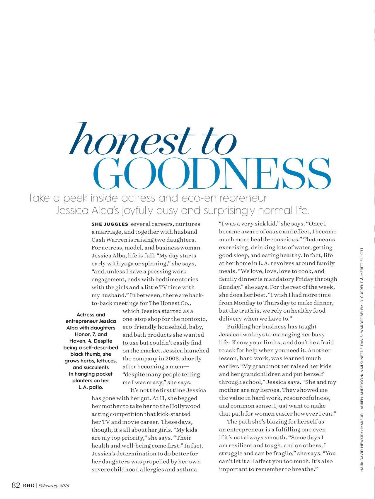 Jessica Alba U2013 Better Homes And Gardens Magazine February 2016 Issue