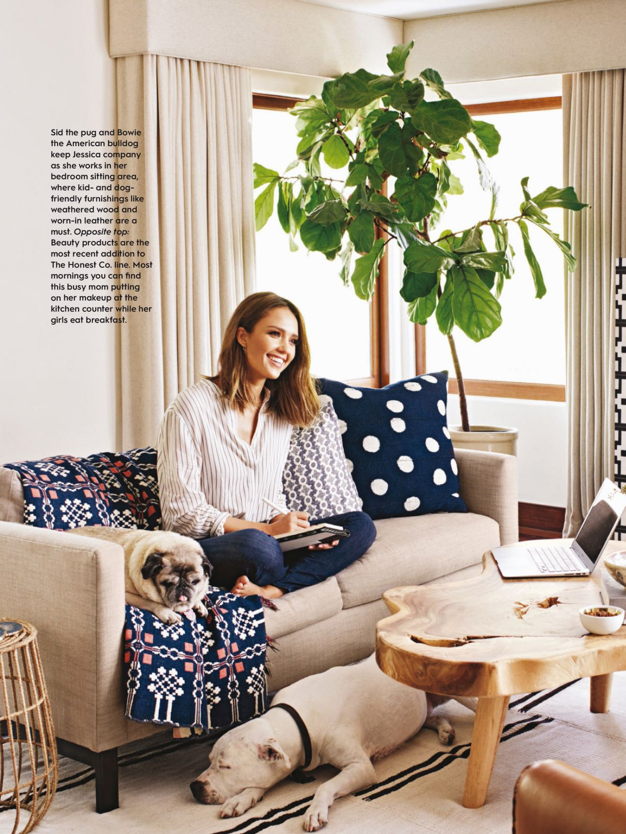 Jessica Alba Better Homes And Gardens Magazine February