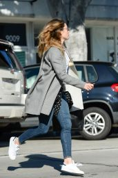 Jessica Biel Street Style - at Au Fudge in Los Angeles, 1/12/2016