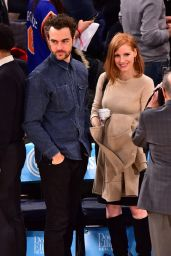 Jessica Chastain - Hawks Knicks Game in New York City, January 2016