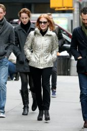Jessica Chastain Street Style - Out in New York City 12/30/2015