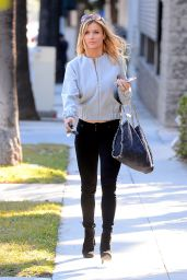 Joanna Krupa Street Style - Leaving a Talent Management Office in Los Angeles, 1/12/2016