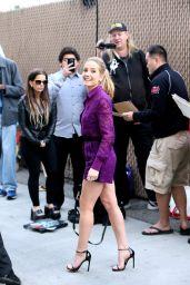 Joanne Froggatt shows off long legs at Jimmy Kimmel Live! Show in Los Angeles 1/18/2016