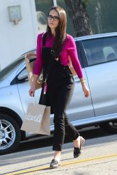 Jordana Brewster Casual Style - Out in Los Angeles 1/28/2016