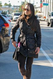 Jordana Brewster Casual Style - Out in West Hollywood, December 2015