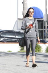 Jordana Brewster in Leggings - Out in Brentwood, 01/17/2016