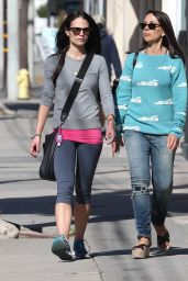 Jordana Brewster in Leggings -  Out in West Hollywood, CA, 1/25/2016