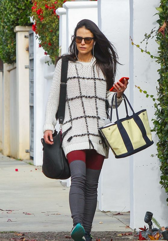 Jordana Brewster Street Style - Out in West Hollywood 1/13/2016