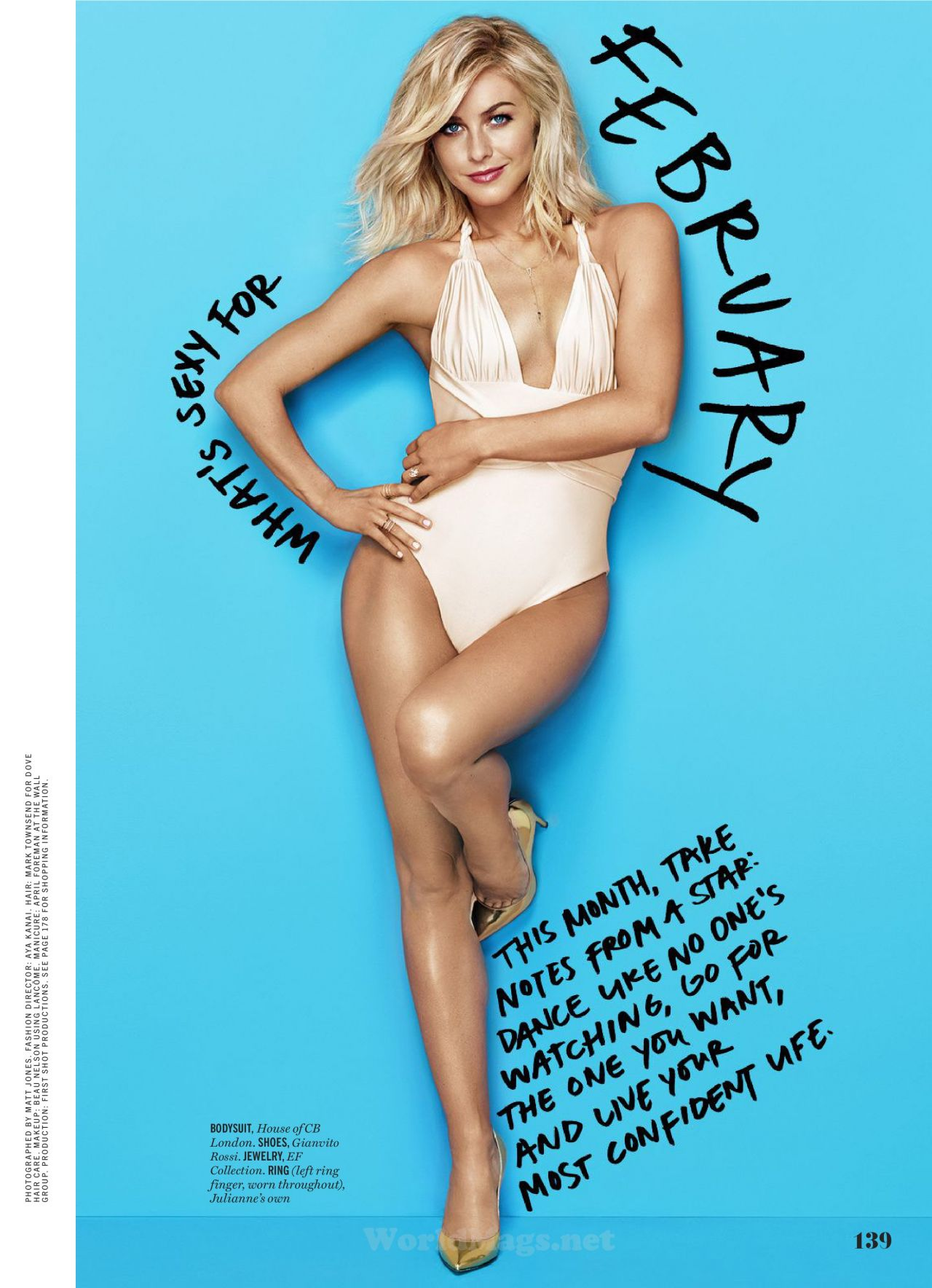Julianne Hough Cosmopolitan Magazine February 2016 Issue