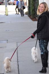 Julie Benz - Walking Her Dogs in West Hollywood, January 2016