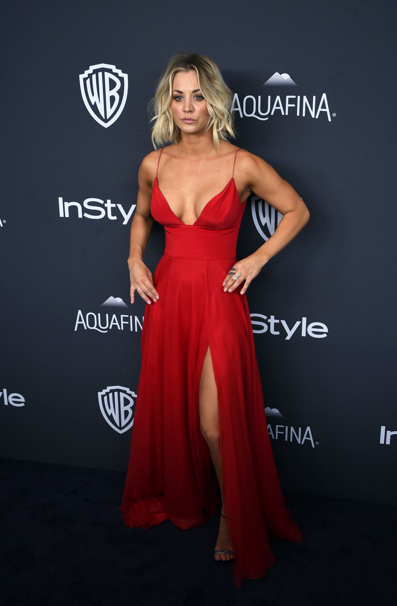 Kaley Cuoco Instyle And Warner Bros Golden Globe Awards