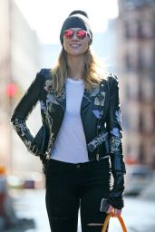 Karlie Kloss Street Fashion - Out in NYC 1/27/2016