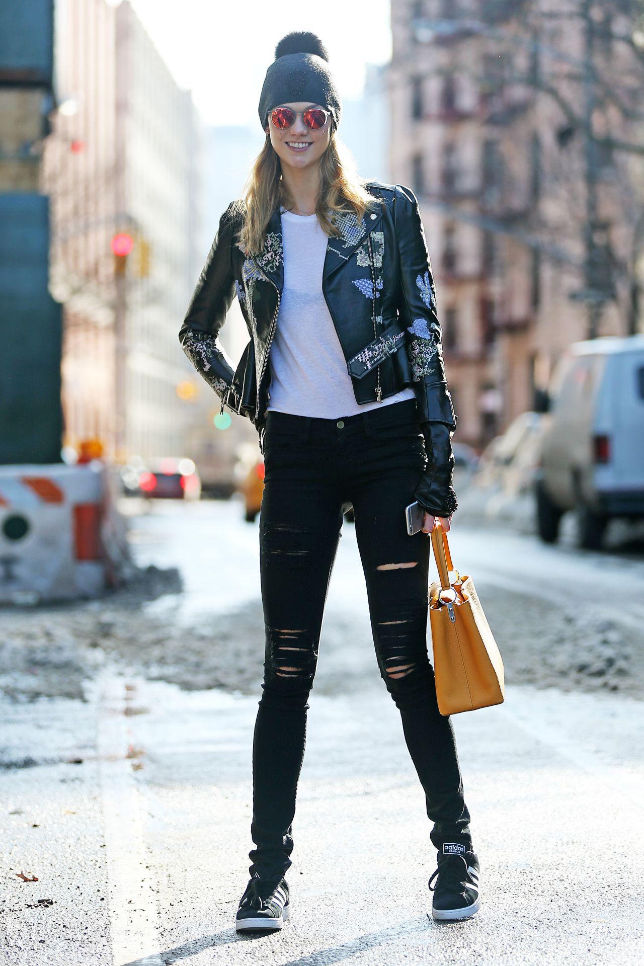 karlie kloss street fashion  27  2016
