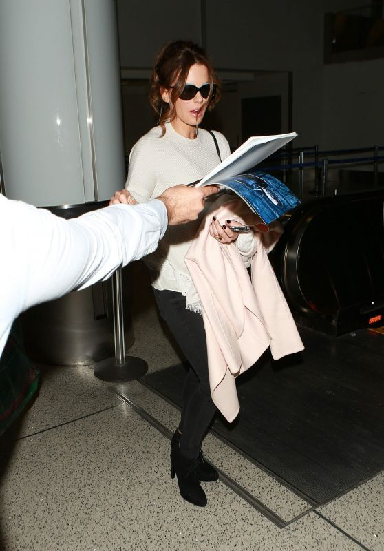 Kate Beckinsale at LAX Airport in Los Angeles - January 22, 2016