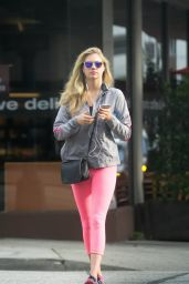 Kate Upton in Neon Pink Leggings  - Out in Beverly Hills 1/13/2016