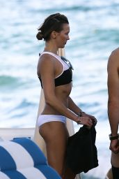 Katie Cassidy in a Bikini on a Beach in Miami, 12/31/2015