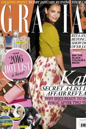 Katie Holmes - Grazia Magazine UK January 2016 Issue