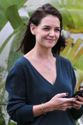 Katie Holmes - On Her Phone in Los Angeles, January 2016