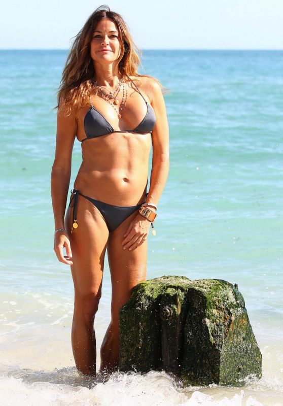 Kelly Bensimon Hot in Bikini - Beach in Miami, January 2016