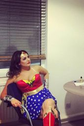 Kelly Brook as Wonder Woman on the Set of Keith & Paddy Show - January 2016