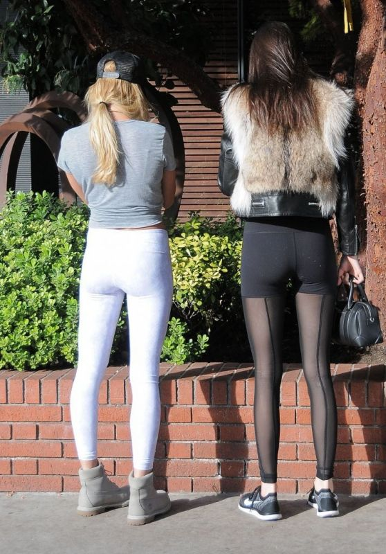 Kendall Jenner and Hailey Baldwin in Spandex - Out in Beverly Hills 1/13/2016