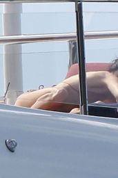 Kendall Jenner Bikini Candids - On a Yacht in St Barts 12/31/2015