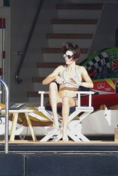 Kendall Jenner in a Bikini on a Yacht in St Barts 01/01/2016
