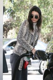 Kendall Jenner in Tight Jeans - Pumping Gas in Los Angeles 1/14/2016