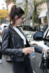 Kendall Jenner in Tights – Alfred Coffee in West Hollywood 1/4/2016
