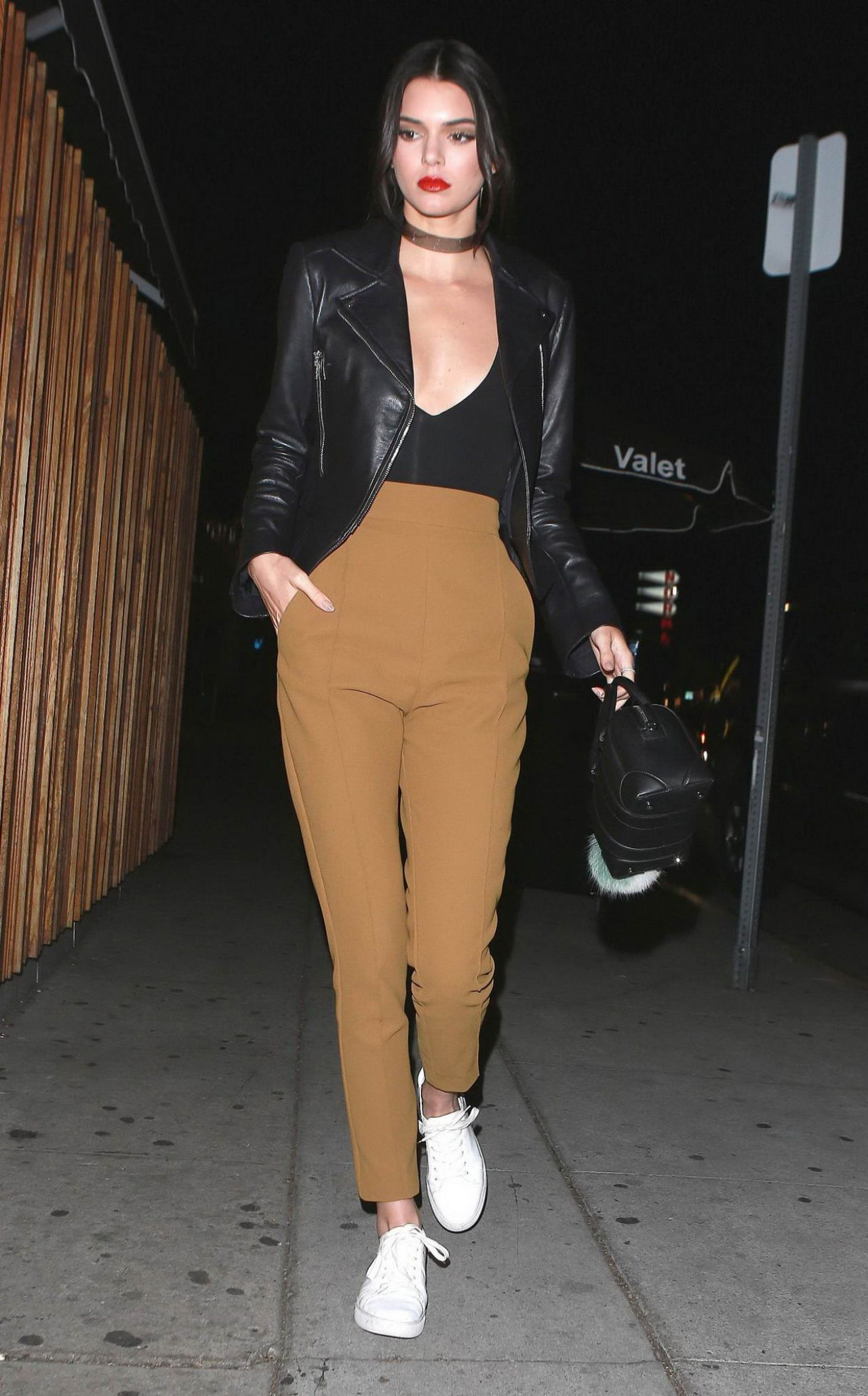 Kendall Jenner Night Out Style Arriving At Nice Guy In