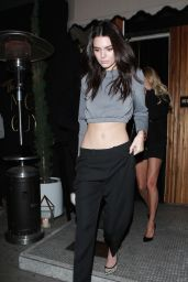 Kendall Jenner Night Out Style - at the Nice Guy in West Hollywood 1/11/2016