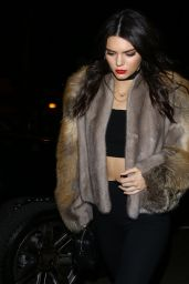 Kendall Jenner Night Out Style - Hollywood 01/23/2016