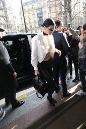 Kendall Jenner Street Fashion - at Her Hotel in Paris 1/26/2016