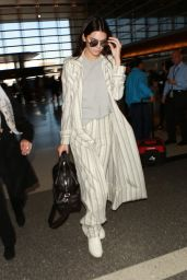 Kendall Jenner Street Fashion - at LAX AIrport in Los Angeles, 1/21/2016