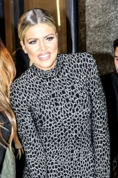 Khloe Kardashian Night Out Style - Leaving a Taping in New York City 01/13/2016