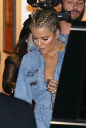 Khloe Kardashian Wearing Corn Rows - Leaving the Studio 1/27/2016