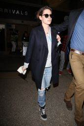 Kristen Stewart Airport Style - at LAX in LA 1/20/2016