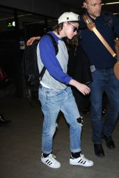Kristen Stewart Airport Style - LAX in Los Angeles 1/25/2016