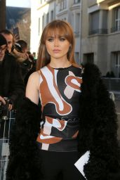 Kristina Bazan – Arrives at Christian Dior Fashion Show Spring Summer 2016 in Paris